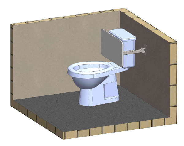 HC stöd WC rak vägg 1